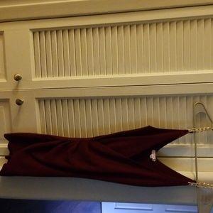 Burgundy dressy dress